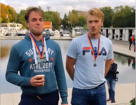 Rechts Nelson Ritsema en links Jan van der Bij